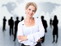 Woman and abstract team Royalty Free Stock Images