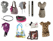 Woman accessories stock photos