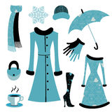 Woman accessories set Royalty Free Stock Image