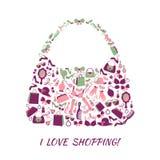 Woman accessories shopping bag Stock Photos