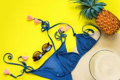 Woman Accessories to Beach Season Holiday Concept Stock Photography