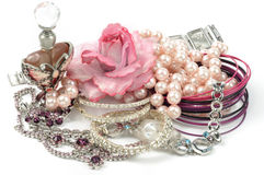 Woman accessory. Woman beauty  accessory on white background Royalty Free Stock Images