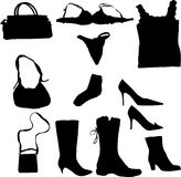 Woman accessory set Royalty Free Stock Photos
