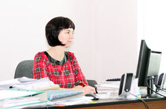 Woman accountant Stock Images