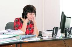 Woman accountant Stock Photography