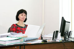Woman accountant Royalty Free Stock Photos