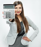Woman accountant portrait. Young business woman. W Royalty Free Stock Images
