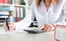 Woman accountant Stock Image