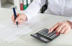 Woman accountant Royalty Free Stock Image