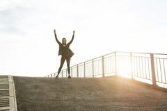 Woman achievements goals. Royalty Free Stock Photo