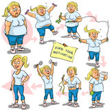 Woman achieving her Weight-Loss goal Royalty Free Stock Images