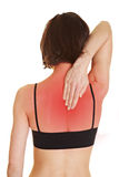 Woman with aching back Stock Photo