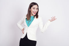 Woman with active expressions Royalty Free Stock Images