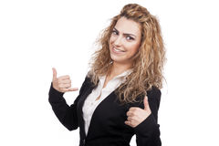 Woman with active expressions Royalty Free Stock Photo