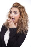 Woman with active expressions Royalty Free Stock Photos