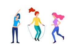 Sport women vector flat illustration stock illustration