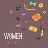 Woman addictions Royalty Free Stock Photography