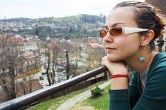 Woman admiring scenery Royalty Free Stock Image