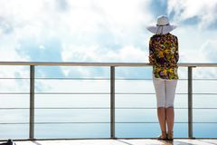 Woman admiring the view Stock Photo