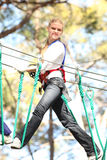 Woman in adventure park Royalty Free Stock Photo