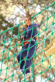Woman in adventure park Royalty Free Stock Images