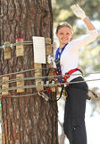 Woman in adventure park Stock Photos