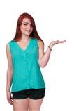 Woman Advertiser Stock Image