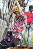 Woman at Aerial Adventure Park Stock Photos