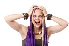 Woman with African plaits Stock Photos