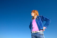 Woman against sky Royalty Free Stock Photo