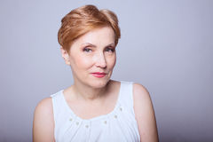 Woman age makeup Royalty Free Stock Images