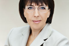 Woman aged glasses Stock Photography