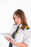 Woman airline pilot Royalty Free Stock Images