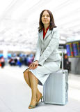 Woman in airport Stock Image