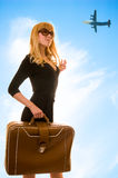Woman in airport stock photos