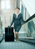 Woman at airport Royalty Free Stock Photos