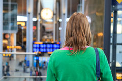 Woman in the airport Stock Photography