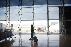 Woman at the airport Royalty Free Stock Image