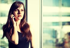 Woman in the airport Royalty Free Stock Images