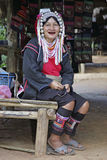 Woman from the Akha tribe, Thailand Stock Photography