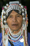 Woman from the Akha tribe, Thailand Stock Image