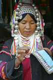 Woman from the Akha tribe, Thailand Royalty Free Stock Image