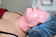Woman with Alginate Mask Royalty Free Stock Photography
