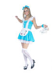 Woman in alice costume Royalty Free Stock Photos