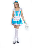 Woman in alice costume Royalty Free Stock Images