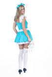 Woman in alice costume Stock Photography