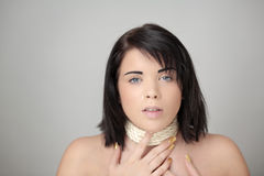Woman all tied up Stock Photography