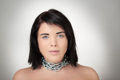 Woman all tied up Stock Image