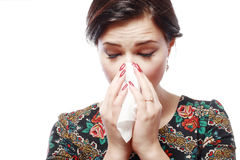 Woman with allergy Stock Photography
