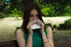 Young pretty woman, allergy, warm weather. Woman allergy young nose sneeze flu pretty Stock Image